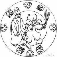 Ausmalbild Nikolaus Krampus Basteln Nikolaus Und Krampus Basteln