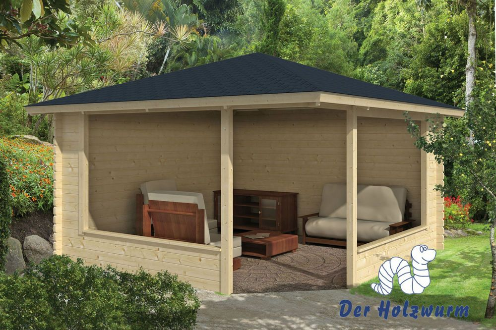 details zu gartenhaus marit blockhaus 400x400 cm holzhaus. Black Bedroom Furniture Sets. Home Design Ideas