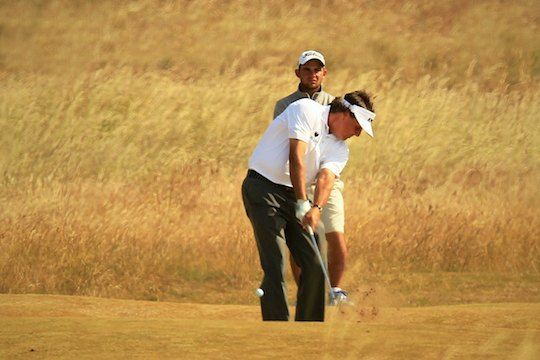 phil mickelson practices ahead of the 2013 open championship credit ...