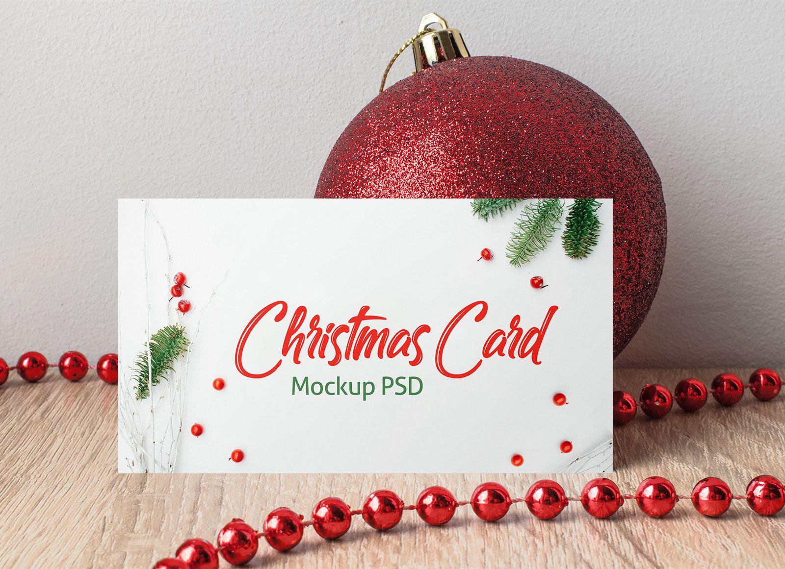 The Astounding Free Horizontal Christmas Greeting Card Mockup Psd Free Pertaining Christmas Card Templates Free Christmas Card Template Christmas Cards Free