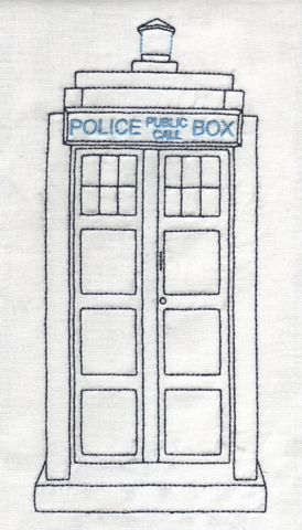 Doctor Who Embroidery The Doctors Wife The Tardis Embroidery