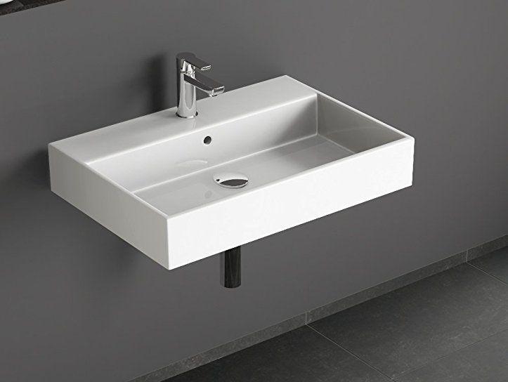 Aqua Bagno SOLO Design Keramik Waschtisch 70x50cm ...