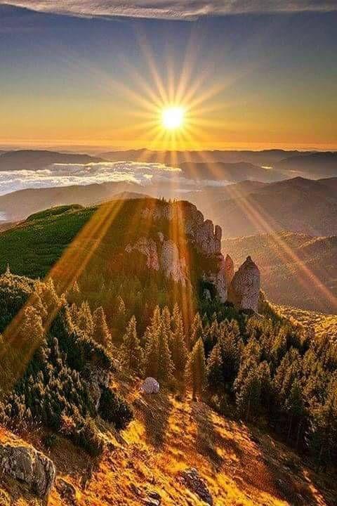 Mountain Sun set
