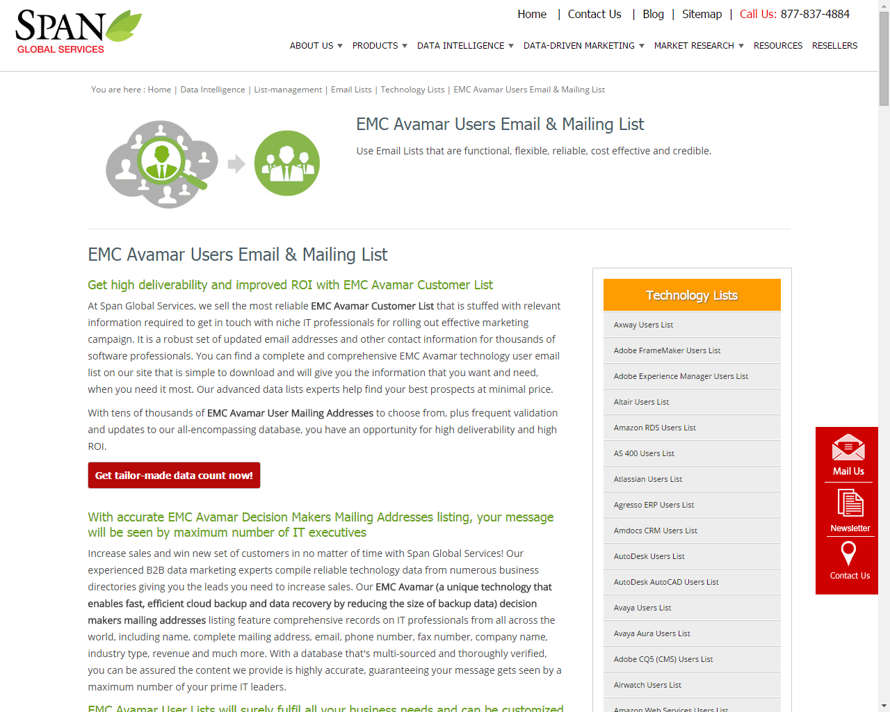 Our Uniquely Designed Mailing Lists Are Compiled In A User