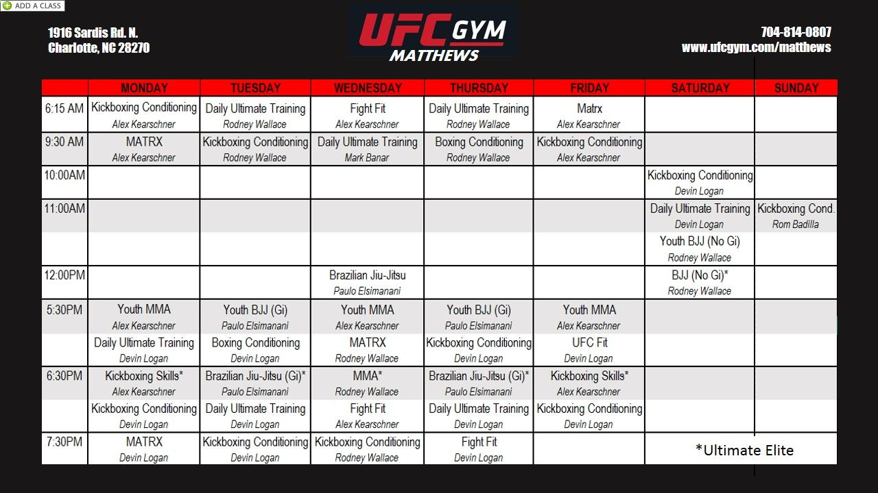 Pin On Ufc Gym Matthews Classes