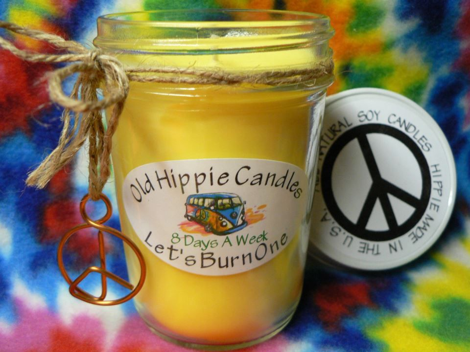 Our 8 Day's A Week Candle has an amazing Lemongrass fragrance that's sure to sooth all of your worries away!  Old Hippie Candles are 100% hippie made with all natural soy wax and essential oils, we only use cotton or hemp wicks for a clean slow burn every time! all of our candles are poured in ...