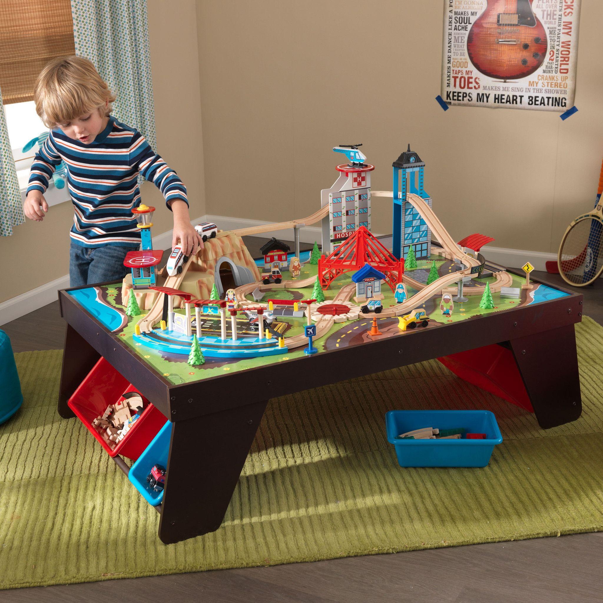 Kid Kraft Aero City Train Set and Table - 17806 | KidKraft Products ...