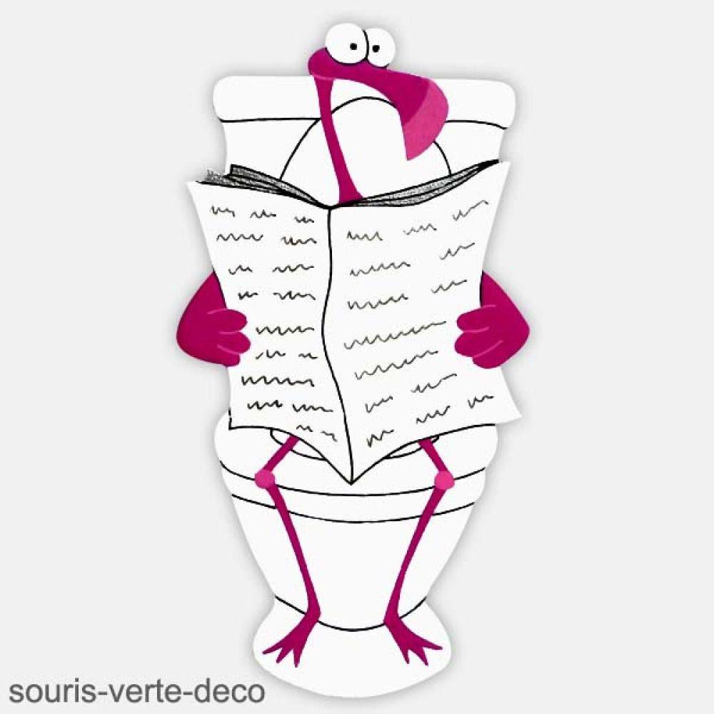 Deco Salle De Bain Flamant Rose ~ plaque de porte de toilettes flamant rose d co humoristique d co