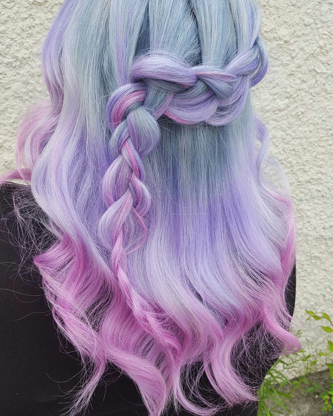 Unicorn braid super cute hair color and hairstyle design hairstyle