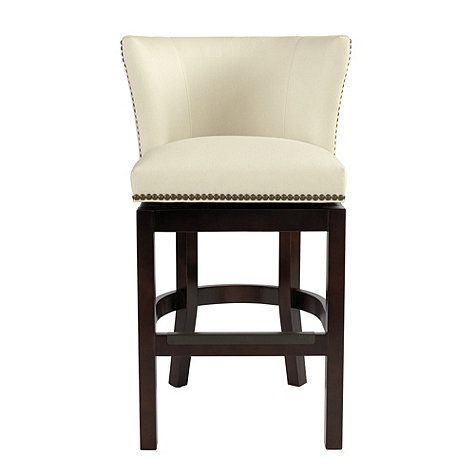 Shelton Barstool With Brass Nailheads Bar Stools Upholstered