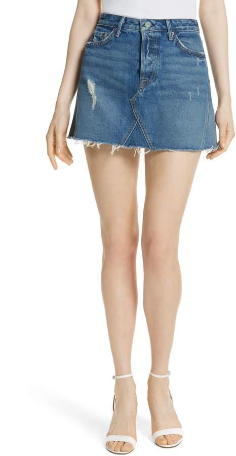 ffc570a839 Women's Grlfrnd Eva Denim A-Frame Gusset Skirt, Size 23 - Blue ...