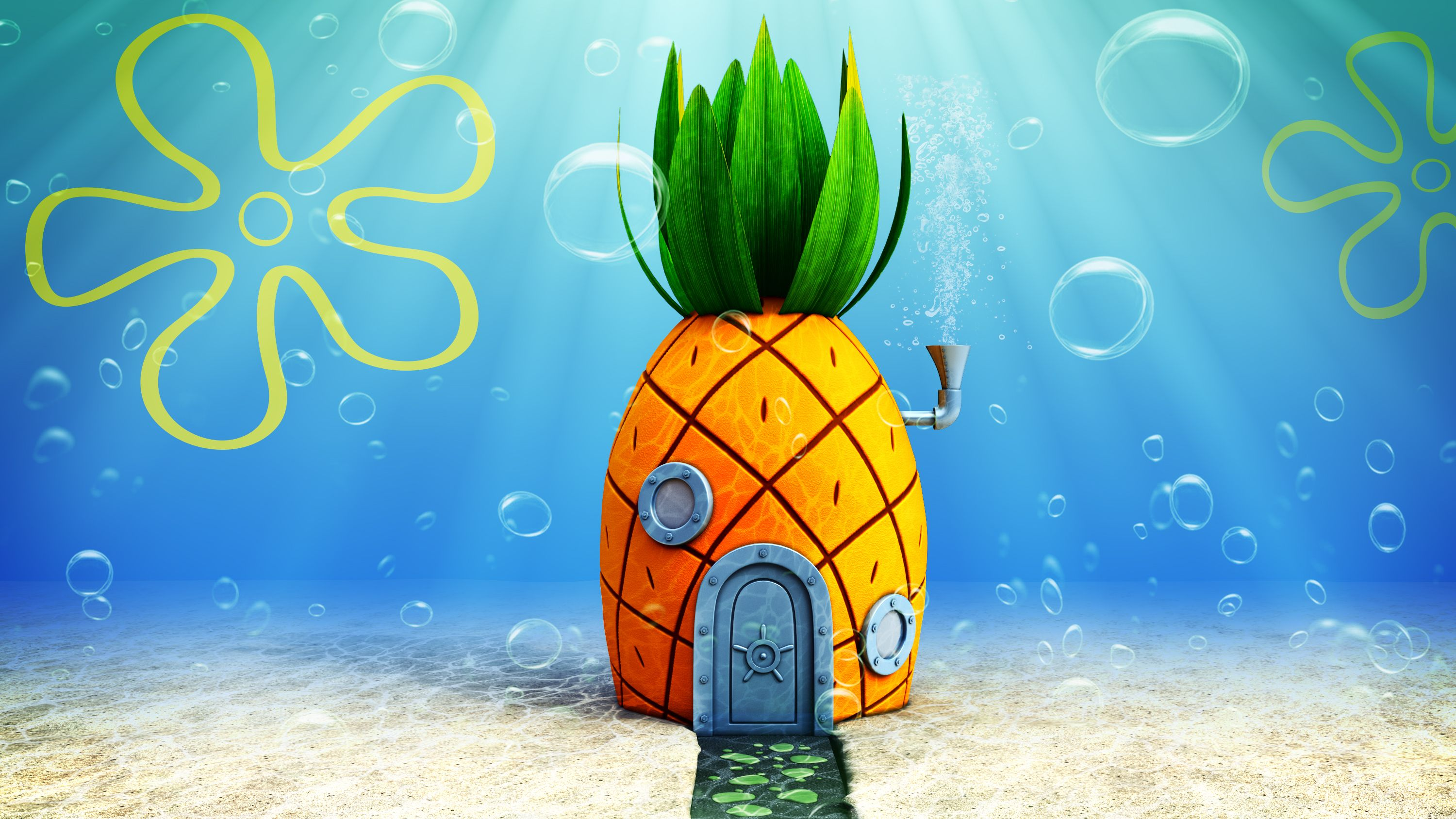 Check Out This Behance Project 3d House Of Spongebob