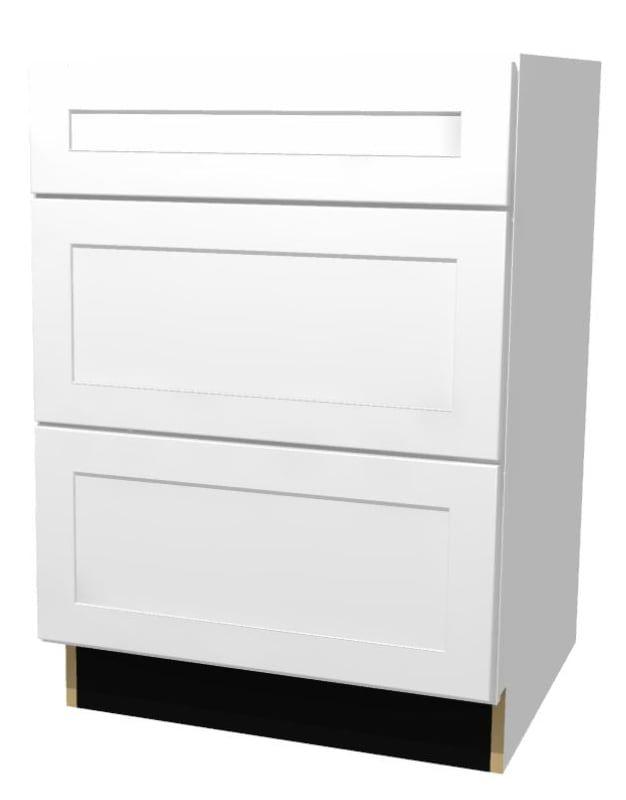 Build Essentials Prt Mp S Sst S C Bd24 3d 24 Inch Wide Shaker Door Hinge Base Ca White Paint Kitchen Cabinets Base Cabinets 24 Inch Shaker Doors Base Cabinets Paint Cabinets White
