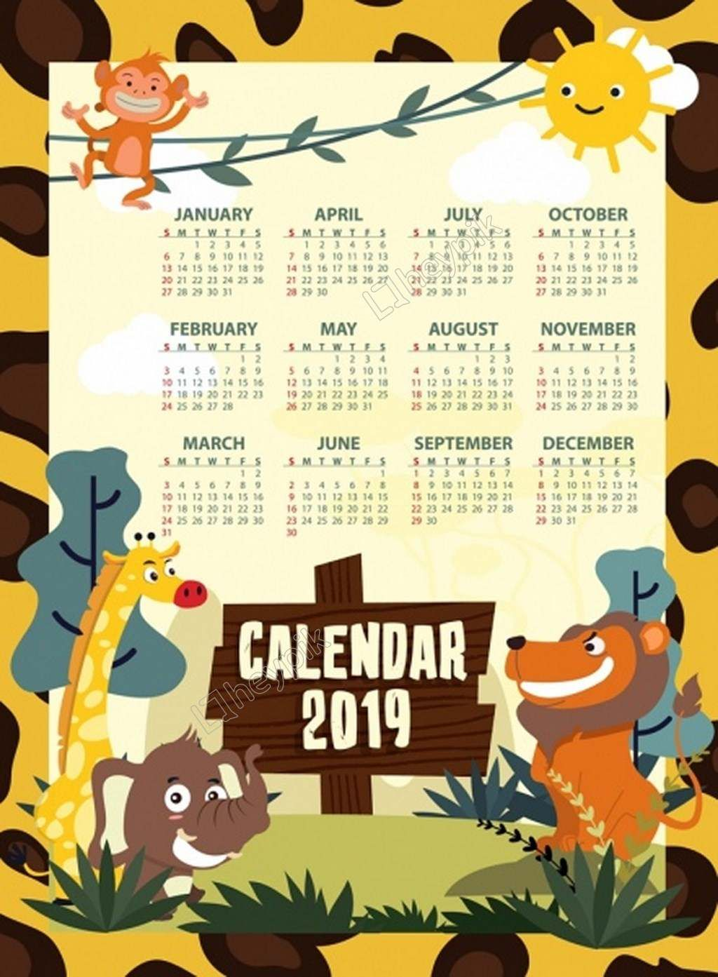 The Monkey Tree Trees Calendar Png Vector Calendar Wallpaper Nature Calendar 2019 Calendar