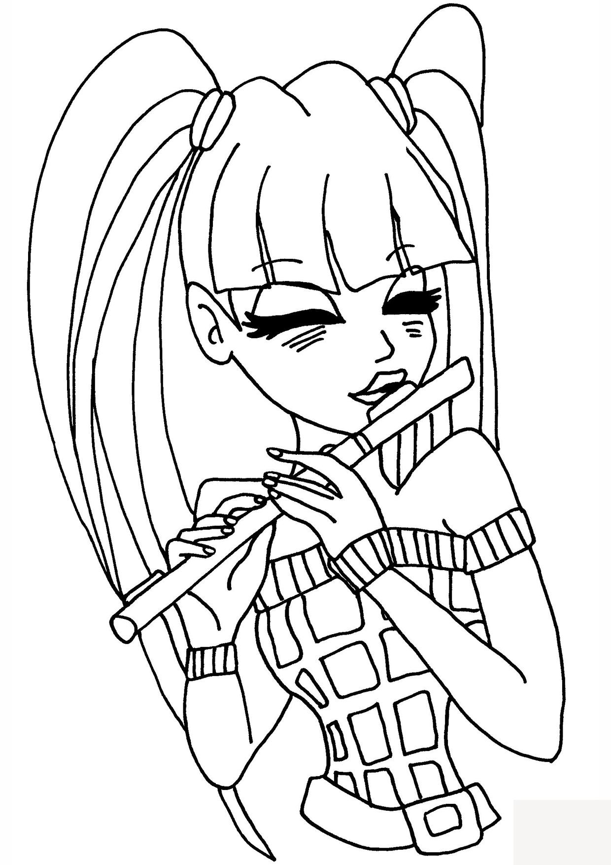 Querflöte Zeichnung