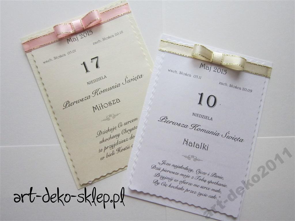 Zaproszenia Komunie Kartka Z Kalendarza 5020171960 Oficjalne Archiwum Allegro Book Cover