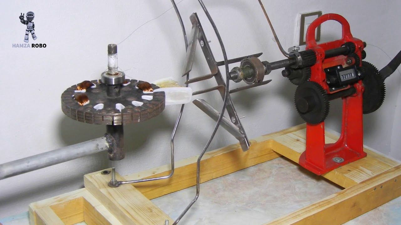 How To Make Ceiling Fan Coil Winding Machine Home Made Winding