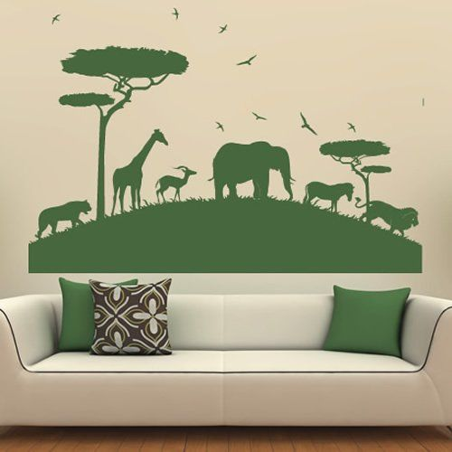 african safari wall sticker animal wall decal art available in 5