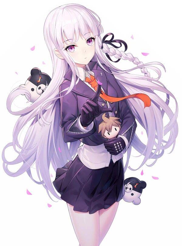 Photo of Girl, Purple Hair, Purle Eyes