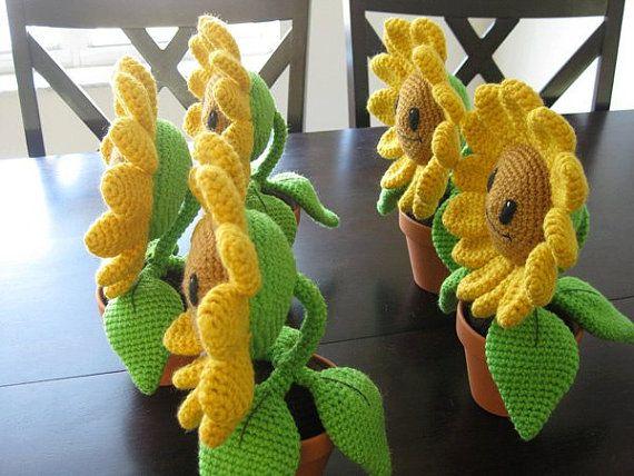 Glücklich Sonnenblume Pdf Amigurumi Häkeln Von Geekchicurumi