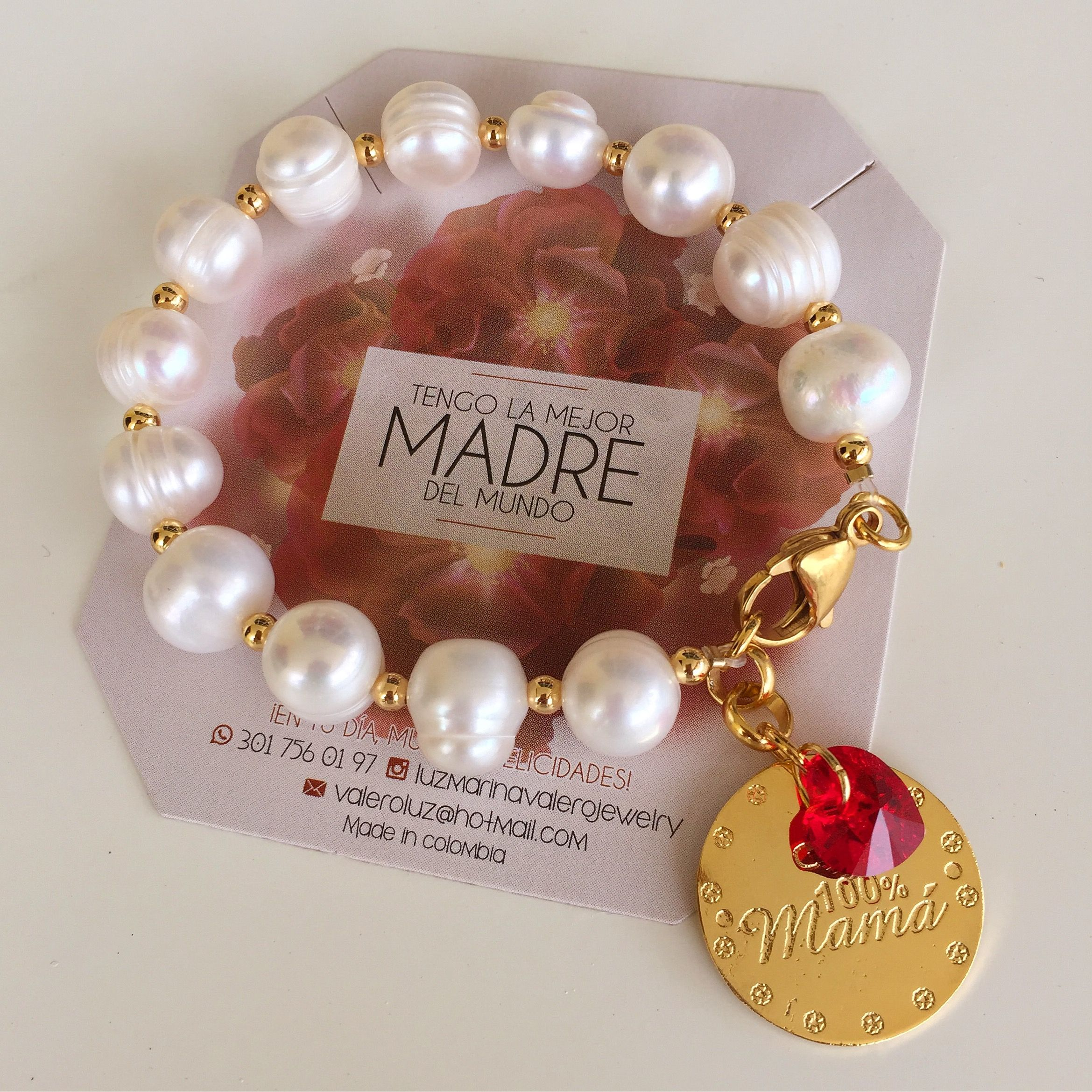 32d78713e85a Pulsera de perlas by Luz Marina Valero