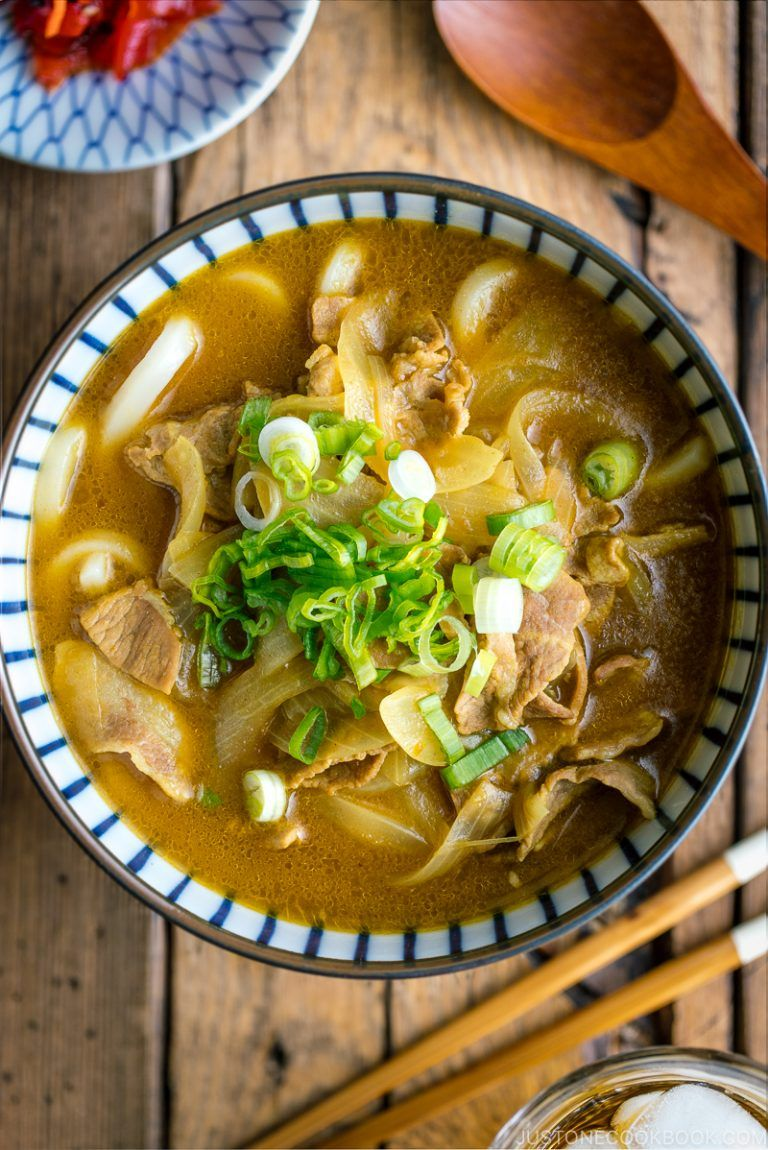 Curry Udon カレーうどん Just One Cookbook Recipe In 2020 Curry Udon Easy Japanese Recipes Recipes