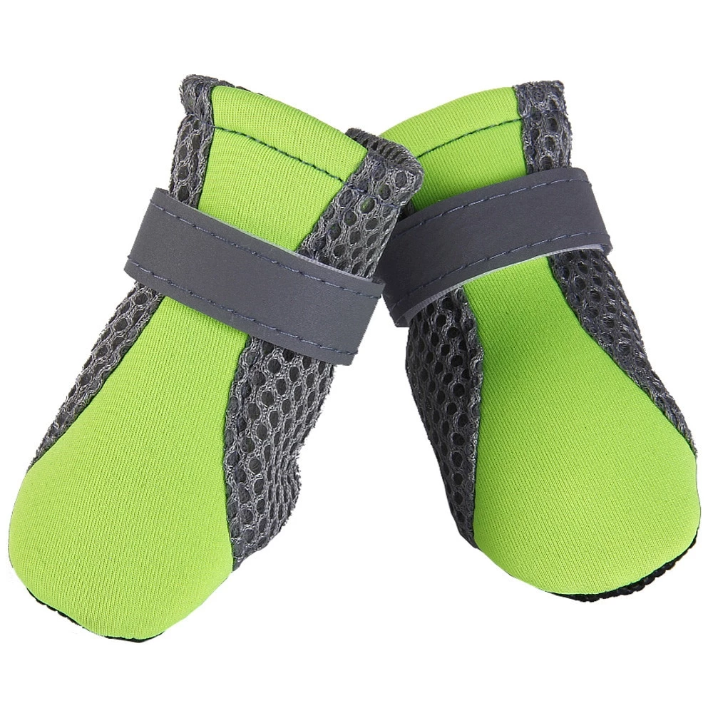 GREEN Mesh & Oxford AntiSlip Pet Boots GloryTails Dog