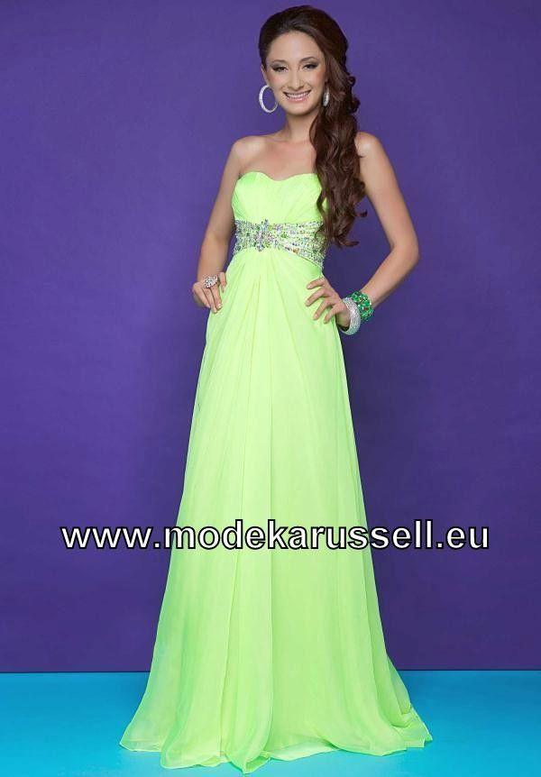 Mint grunes langes kleid