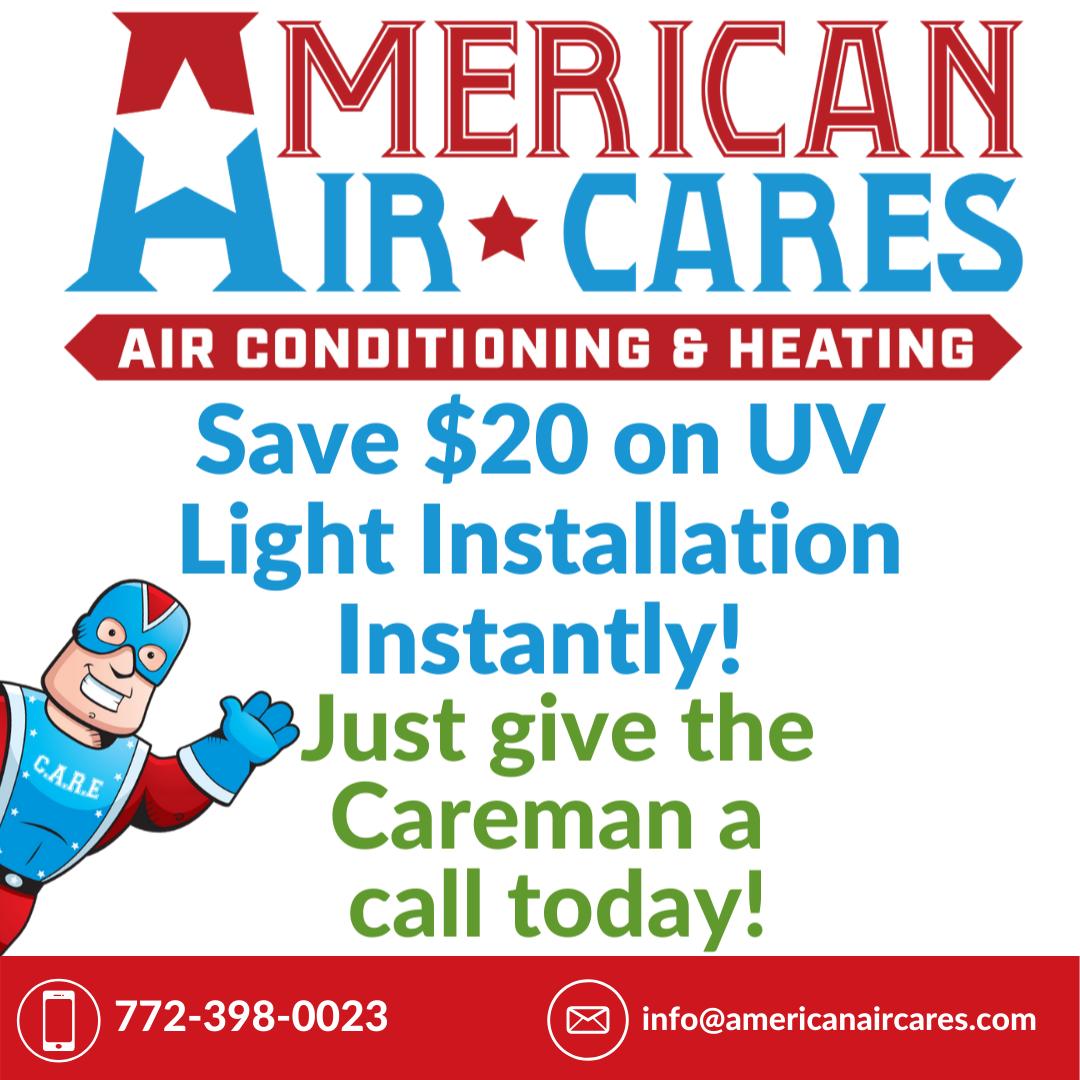 Saturday Savings! HVAC UV lights effectively kill and