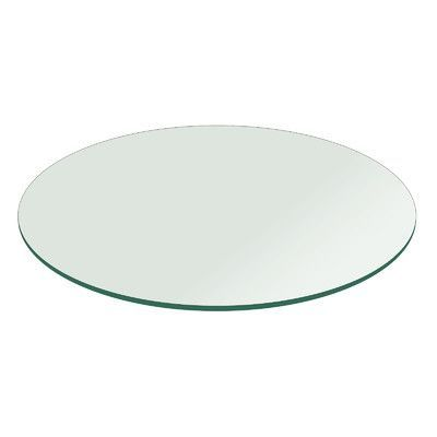 Fab Glass and Mirror Round Flat Polished Tempered Glass Table Top