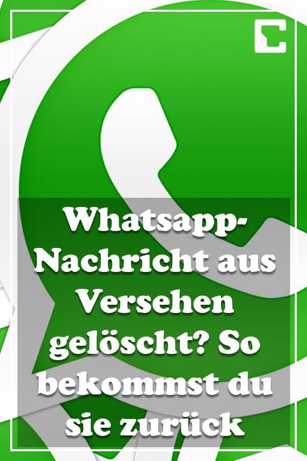 Whatsapp Fur Android Geloschte Nachrichten Wiederherstellen Whatsapp Nachricht Whatsapp Tricks Und Budget Planer