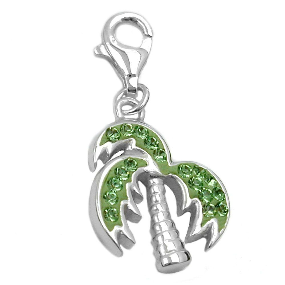 pendant charm palm tree silver 925