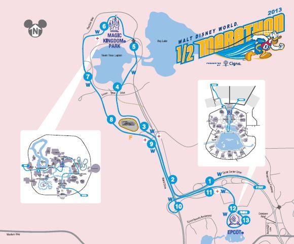 rundisney walt disney world half marathon course map healthy