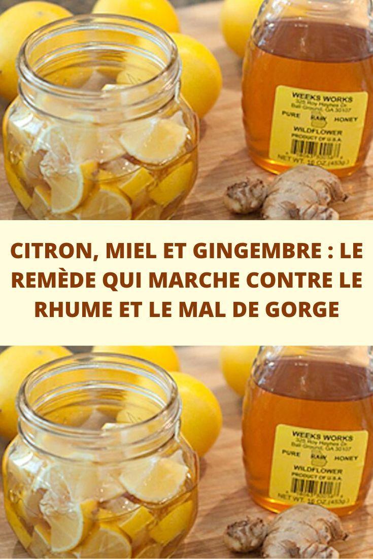 Citron, Miel et Gingembre : Le Remède Qui Marche Contre le