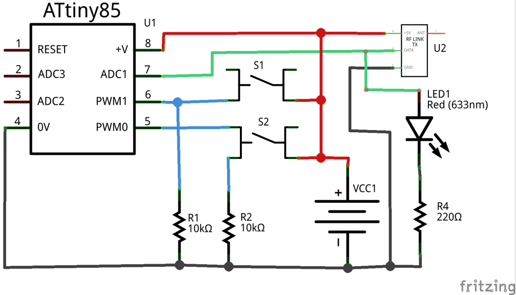 Schematic of 433mhz transmitter | Arduino Wireless Communications ...