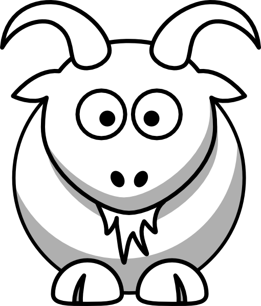 Boer Goat Outline Clipart Panda Free Clipart Images Goat Party