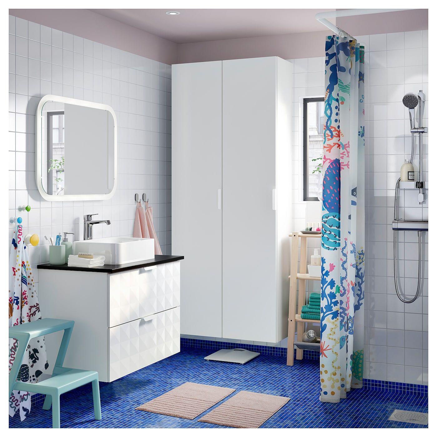 IKEA LASJÖN Shower curtain multicolor Bathroom