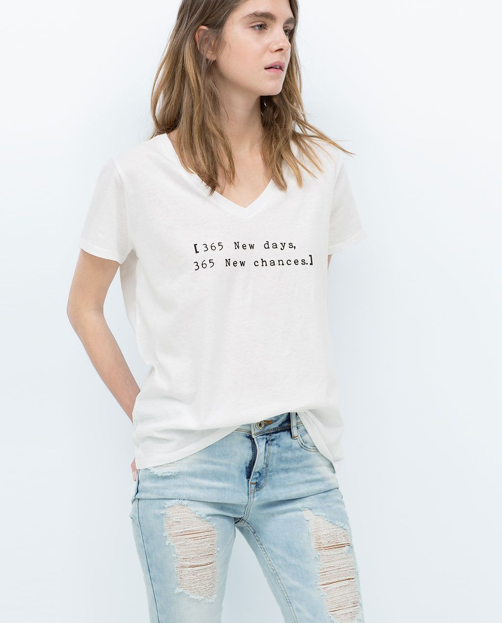 1d7097e24 TEXT T-SHIRT-View all-T-shirts-WOMAN | ZARA United States | To get ...