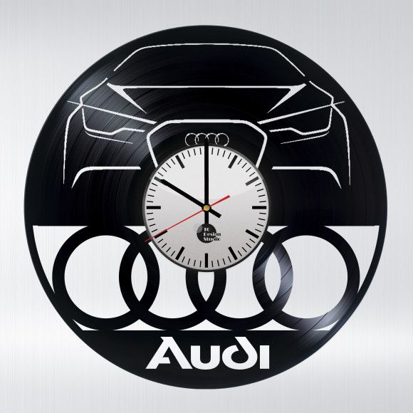 Audi Cars Handmade Vinyl Record Wall Clock Cars