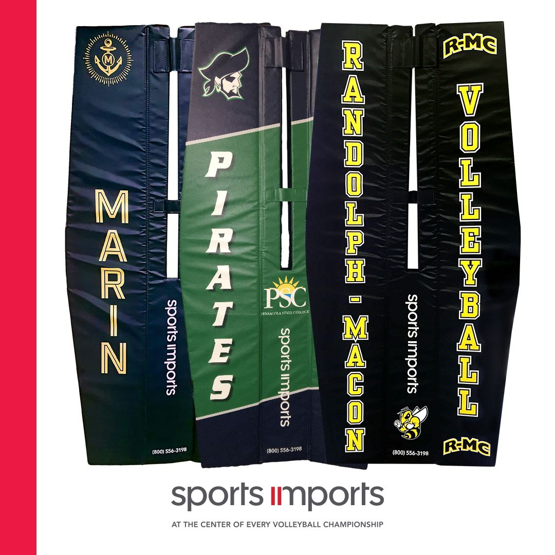 Custom Volleyball Pole Pads By Sports Imports Volleyball Sports Custom