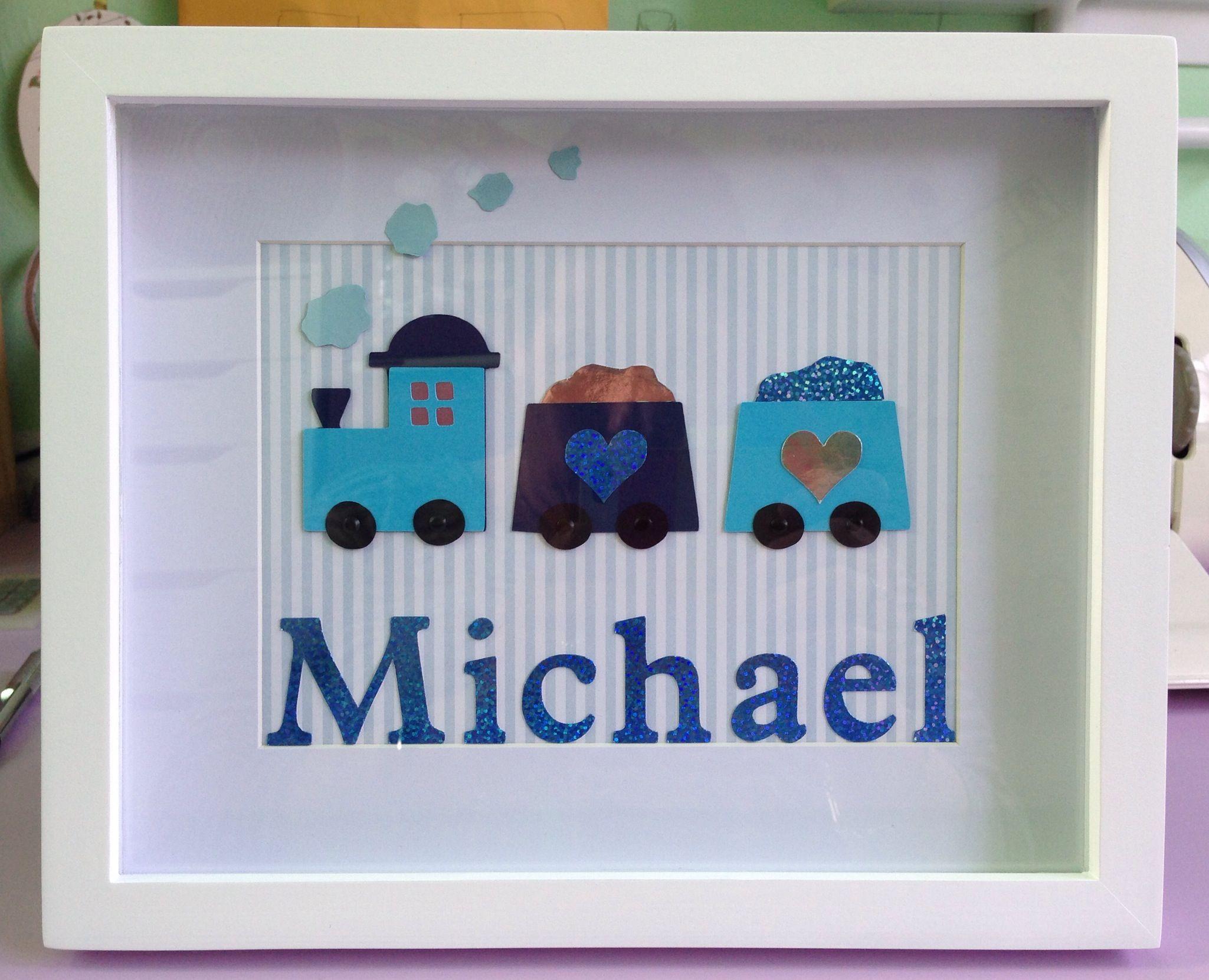 Baby name frame Michael | Name Frames | Pinterest