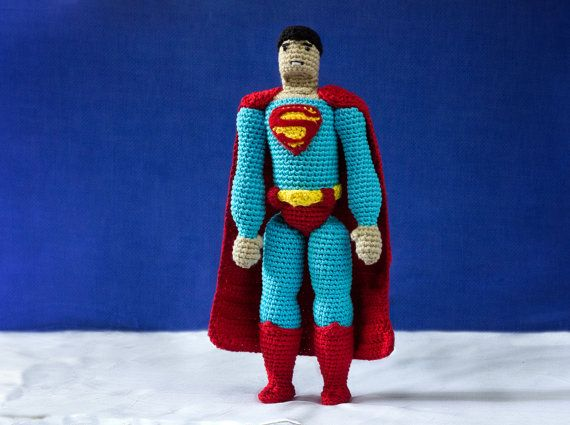 Superman CROCHET toy PATTERN / Superman amigurumi by tinyAlchemy