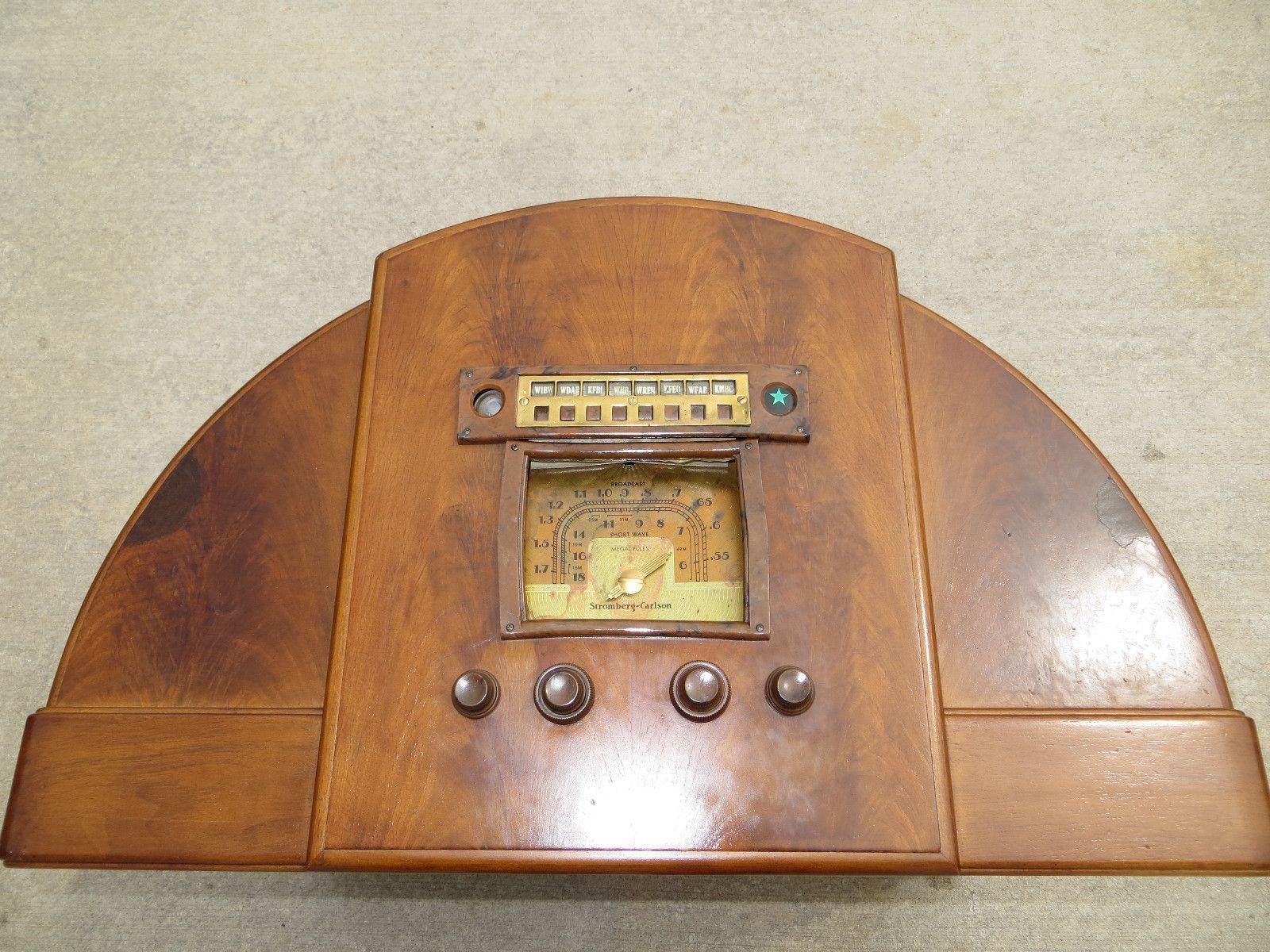 Vintage Antique 1938 Stromberg Carlson Chairside Radio 341