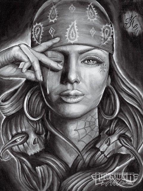 Lowrider arte girls cholas homegirls lowrider art - Brown pride drawings ...
