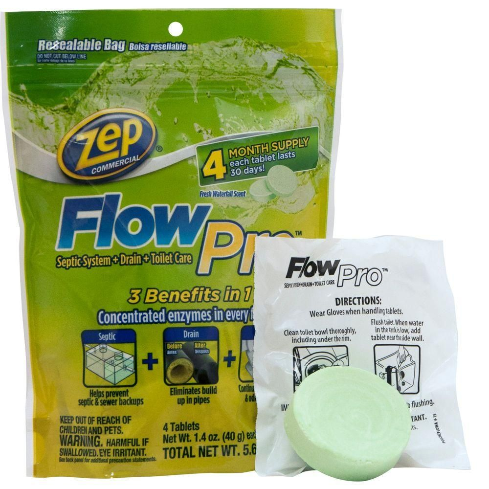5 6 Oz Flowpro Septic System For Drain And Toilet Case Of 12 Septic System Toilet Cleaner