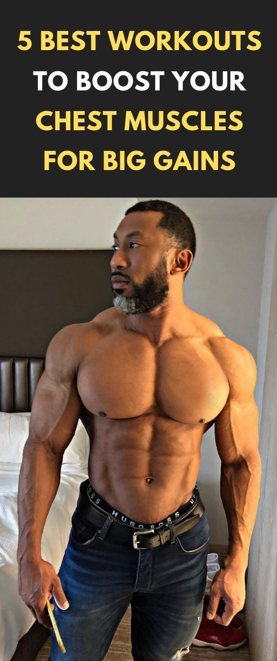 5 Best Workouts to Boost Your Chest Muscles for Big Gains #fitness #bodybuilding #fitness #fitnesswo...