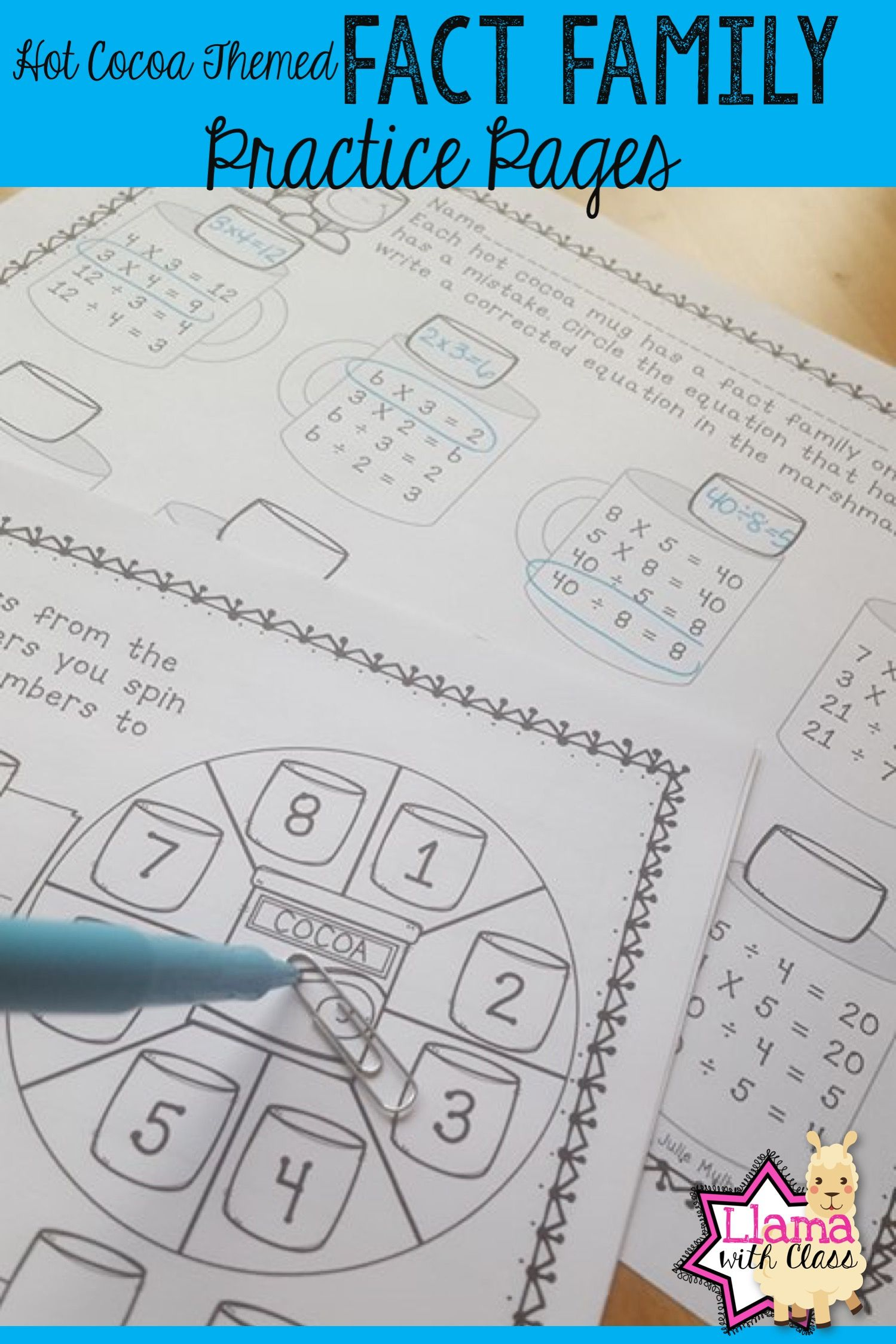 Fun Way To Practice Fact Families For Multiplication And