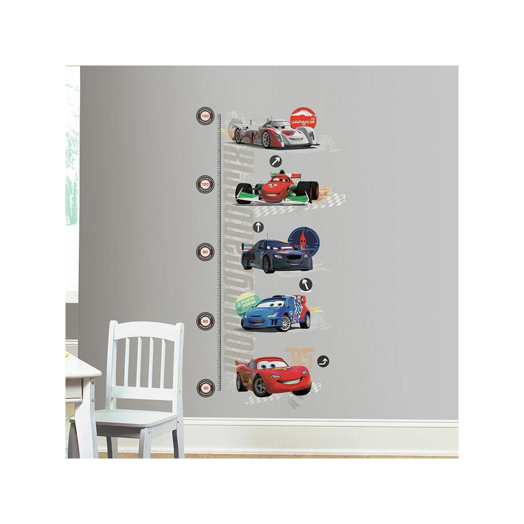 Car growth chart gallery free any chart examples disney pixar cars 2 peel stick metric growth chart wall decals disney pixar cars 2 peel nvjuhfo Image collections