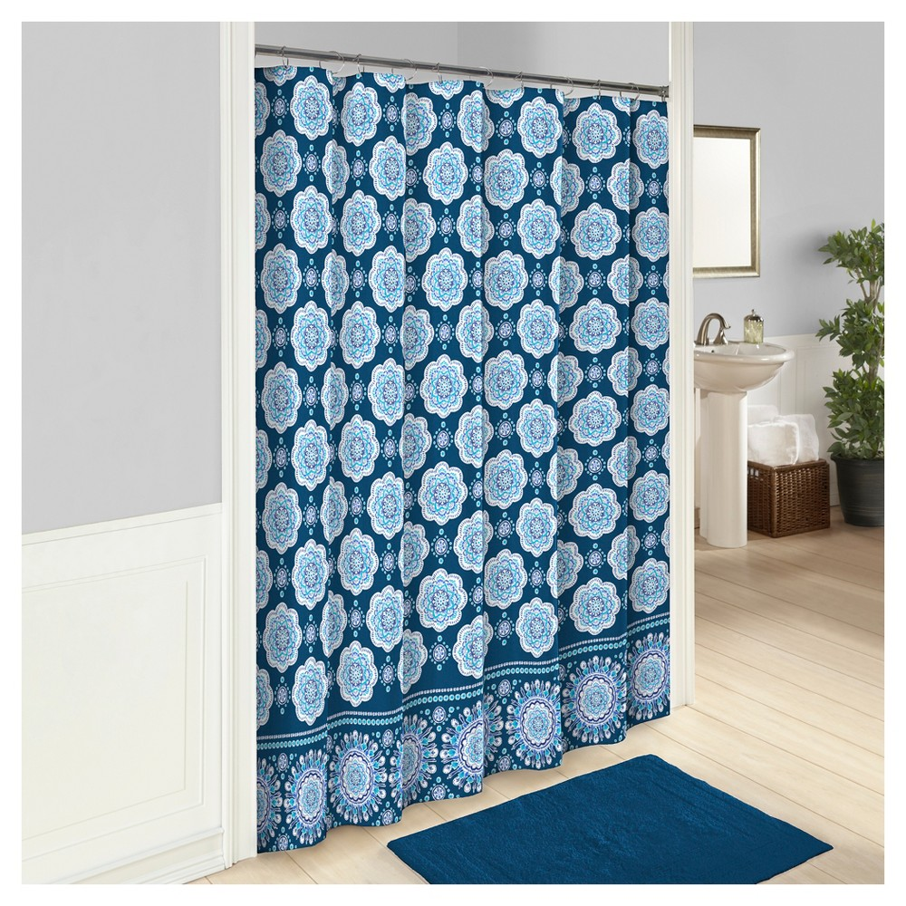 Karma Love Shower Curtain Vue Blue Shower Curtain Shower