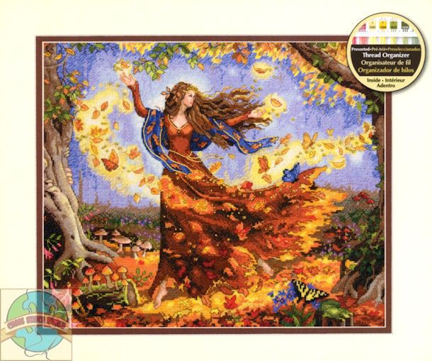 Counted Cross Stitch Kit FALL FAIRY Dimensions Gold Collection